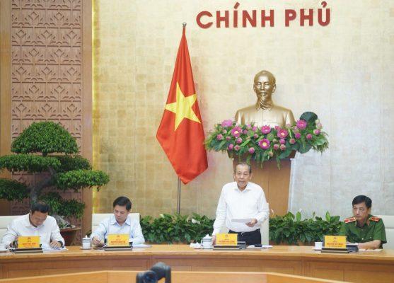 Phó thủ tướng Trương Hòa Bình trong hội nghị trực tuyến sơ kết ATGT 9 tháng đầu năm